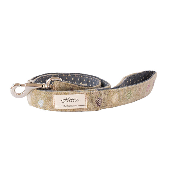 Dog Lead - Multispot Lime