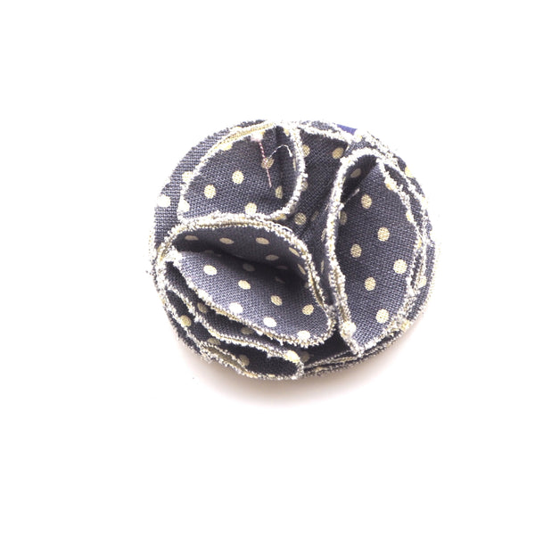 Children's flower hair bobble Denim