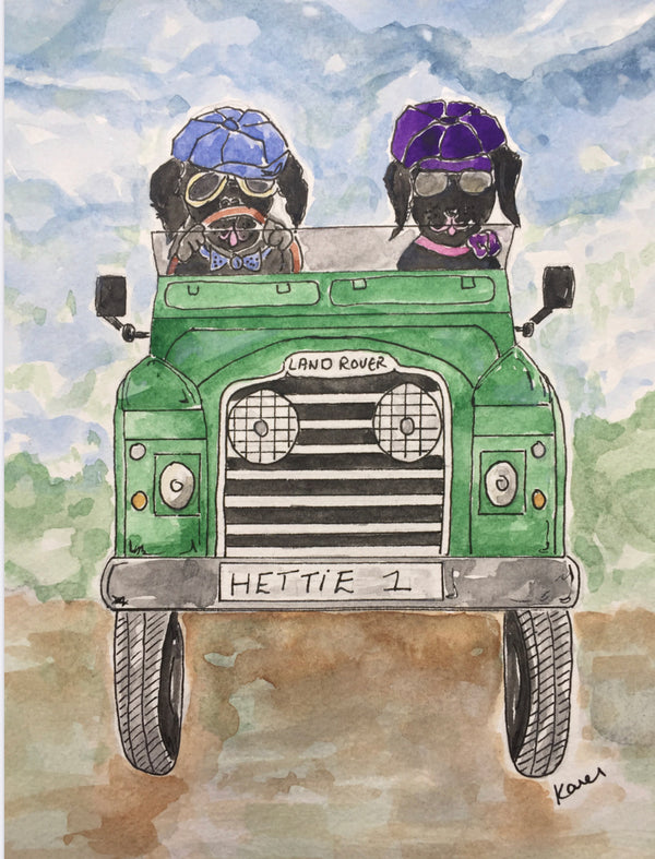 "Hettie art print "" Time for adventures ! """