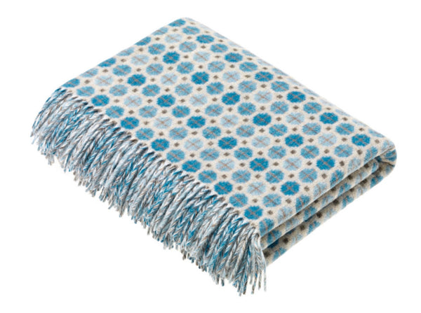 Wool throw Milan Aqua