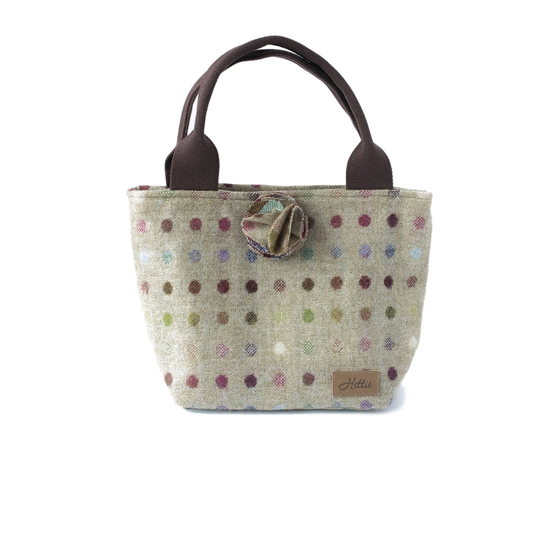 Hettie handbag  - Multispot Lime