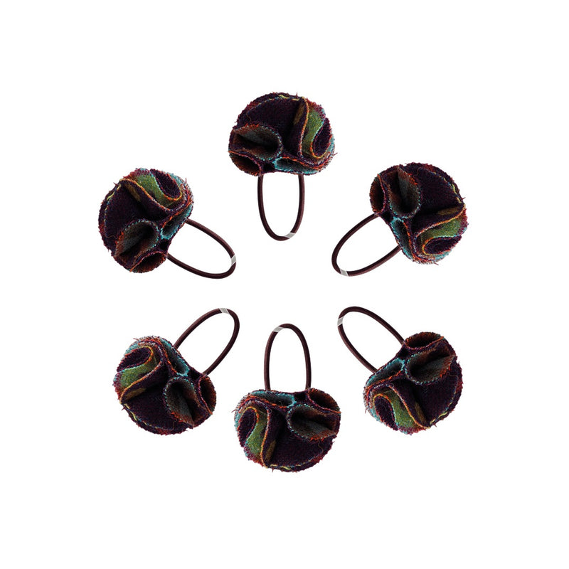 Hettie ladies hair bobble Multispot wine