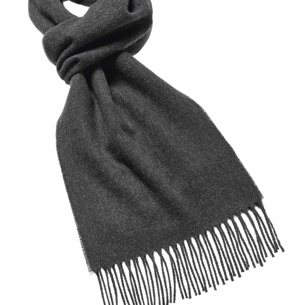 Plain wool scarf moss