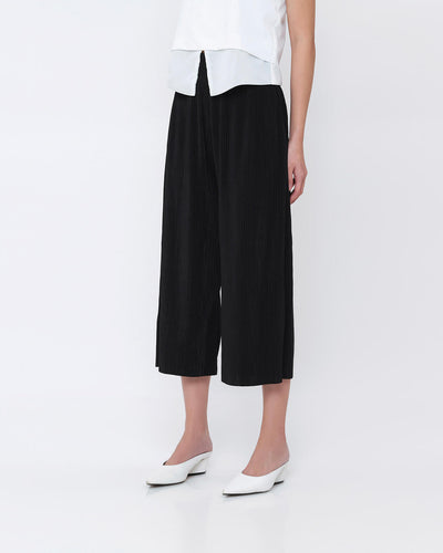 Black Pleated Cullotes - Hellolilo