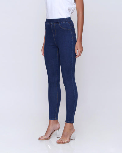 Dark Blue Classic Jeggings - Hellolilo