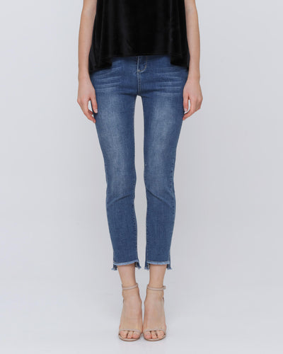Denim Step Jeggings - Hellolilo X Mmehuillet