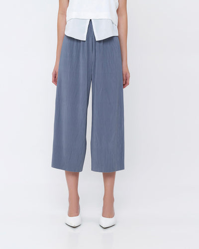 Icy Blue Pleated Cullotes - Hellolilo