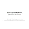 Homeopathic Medicine Labels