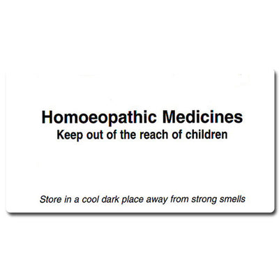 Large Homeopathic Medicine Labels (24 per sheet)