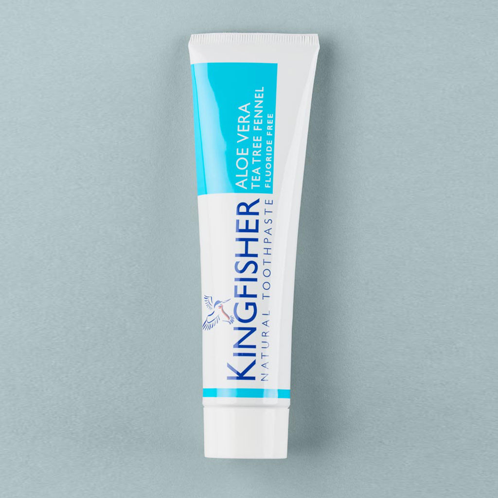Kingfisher Aloe Vera, Tea Tree & Fennel Toothpaste (Fluoride Free) – 100ml