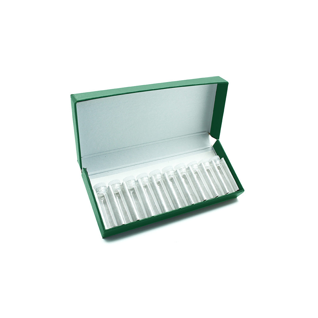 Green Remedy Box with 10 x 2g/1.75ml Push-in Plug Vials