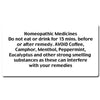Homeopathic Medicine Instruction Labels (35 per sheet)