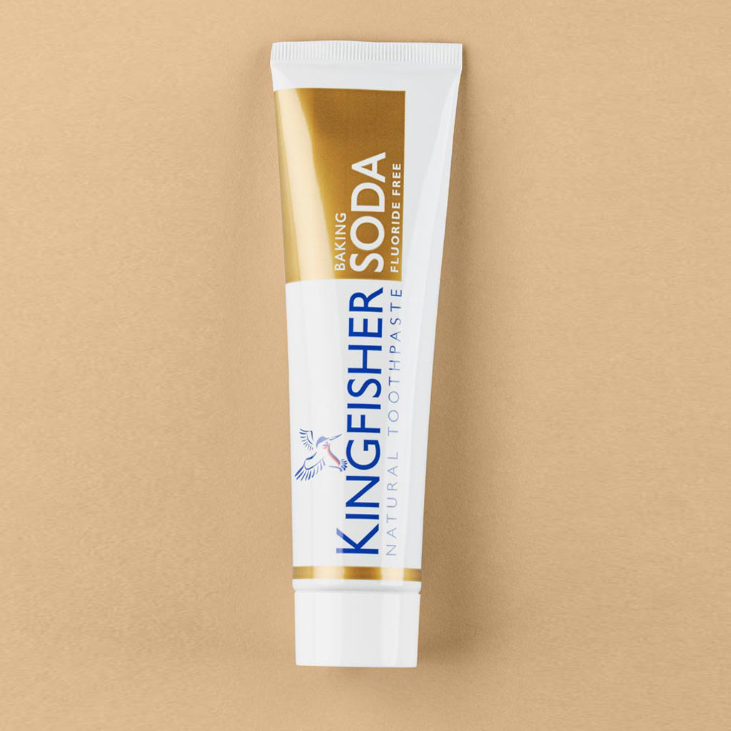 Kingfisher Baking Soda & Mint Toothpaste (Fluoride Free) – 100ml