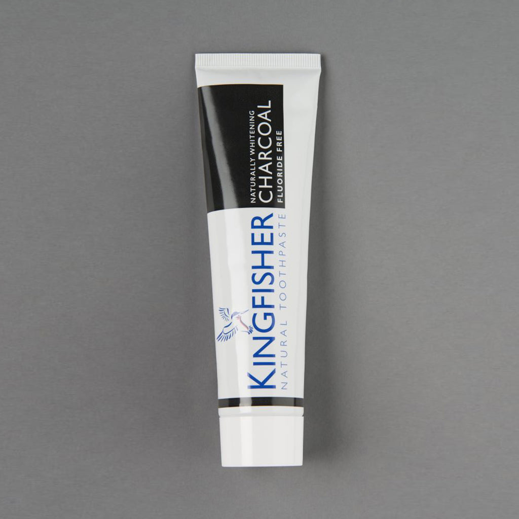 Kingfisher Charcoal Toothpaste (Fluoride Free) – 100ml