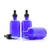 100ml Blue Moulded Glass Dropper Bottle
