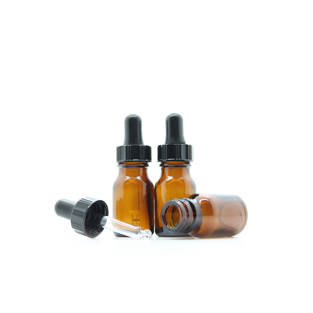 10ml Amber Moulded Glass Dropper Bottle
