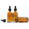50ml Amber Moulded Glass Dropper Bottle