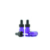 5ml Blue Moulded Glass Dropper Bottle