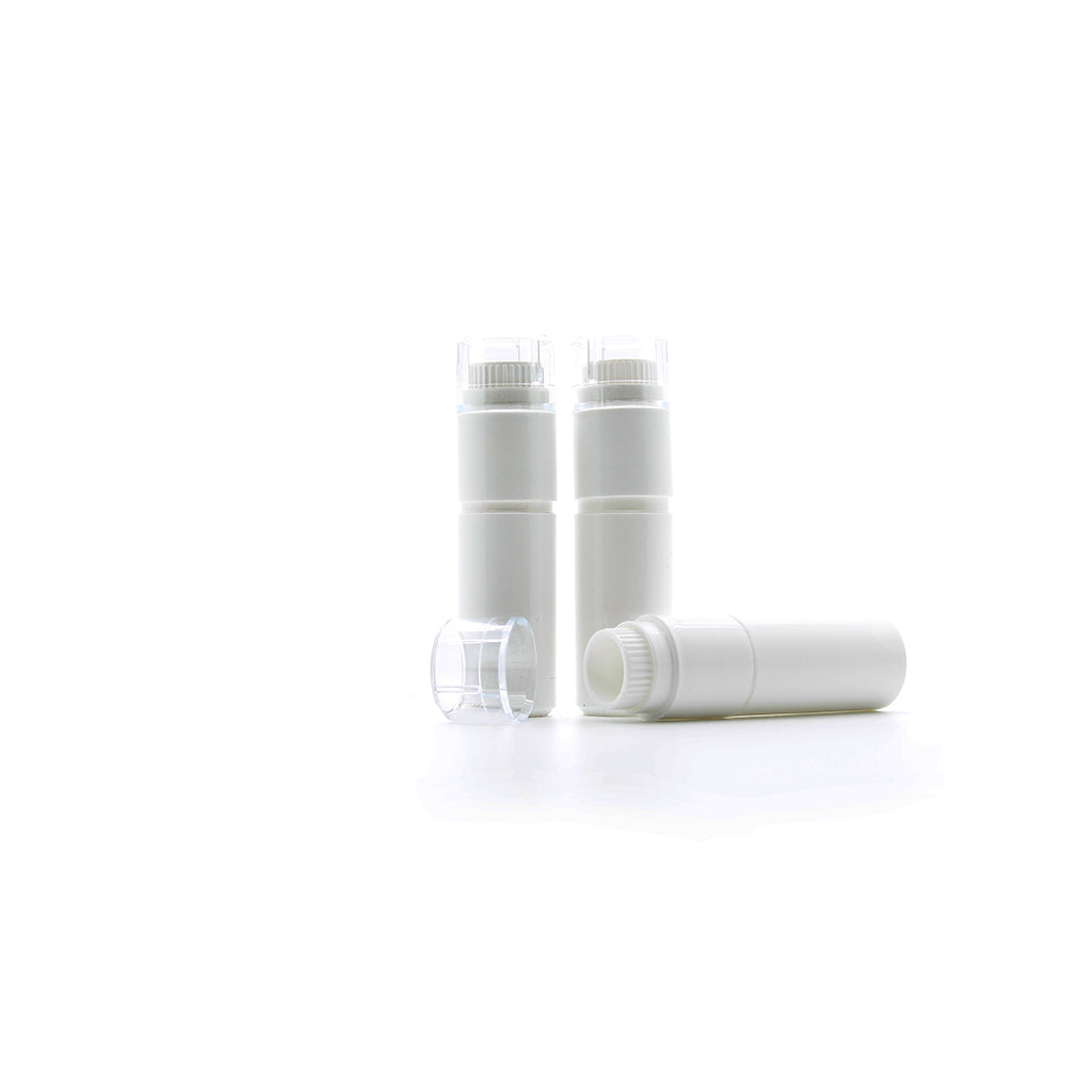 4g White Plastic Dosage Dispenser With Plastic Liner