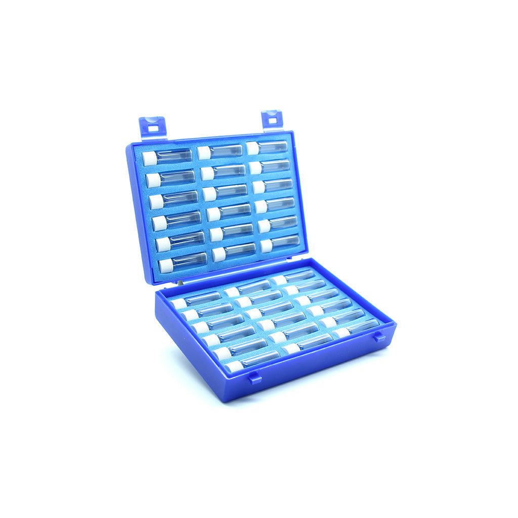 Plastic Case with 36 x 2g Screw Cap Vials