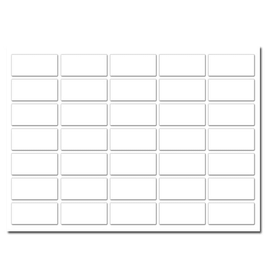 White Rectangular Labels (35 per sheet)