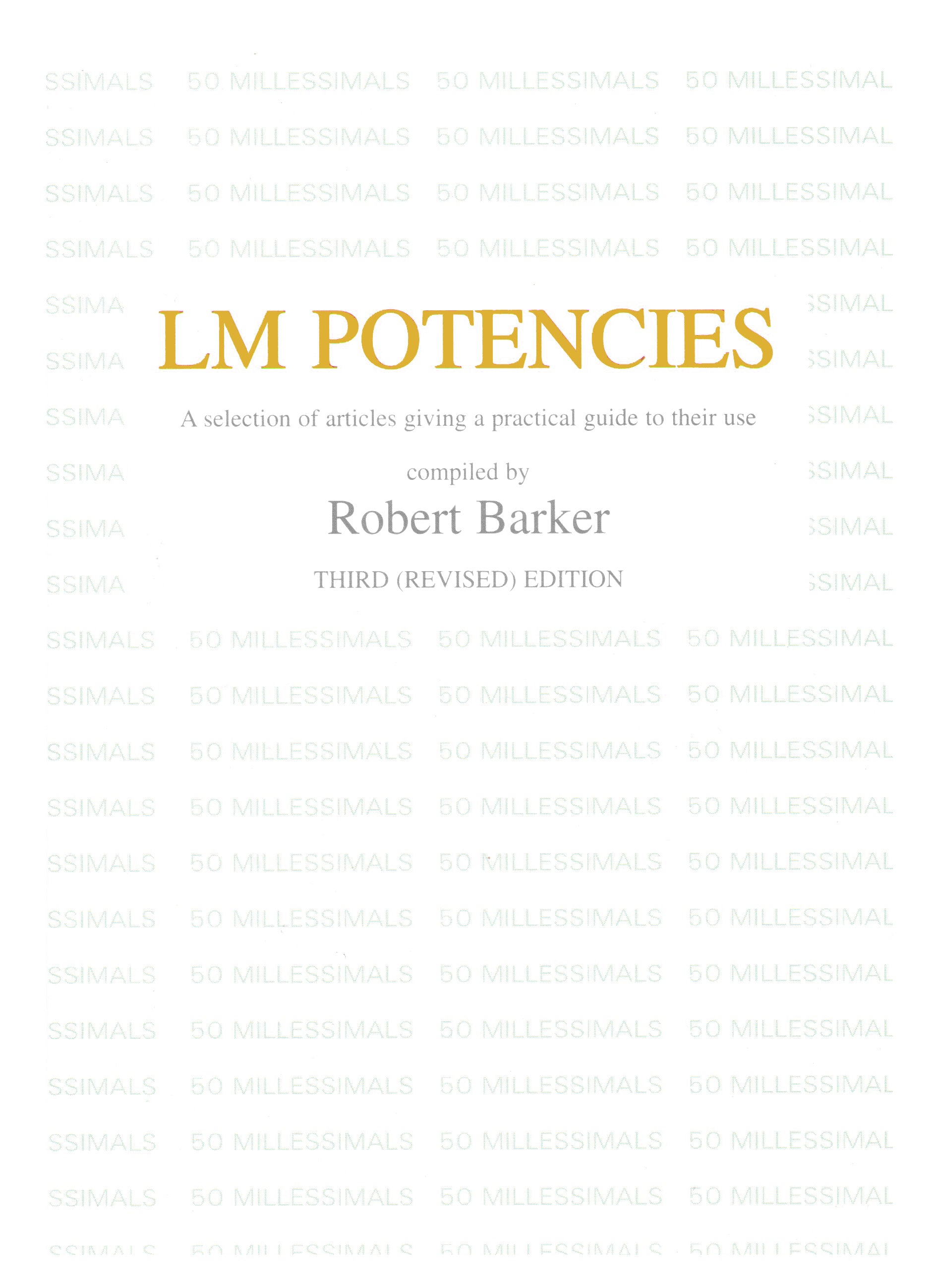 LM Potencies – Robert Barker