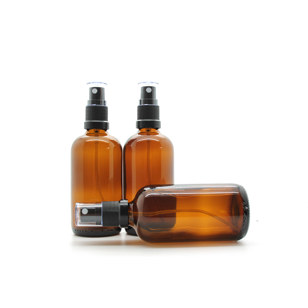 100ml Amber Moulded Glass Mister Bottle