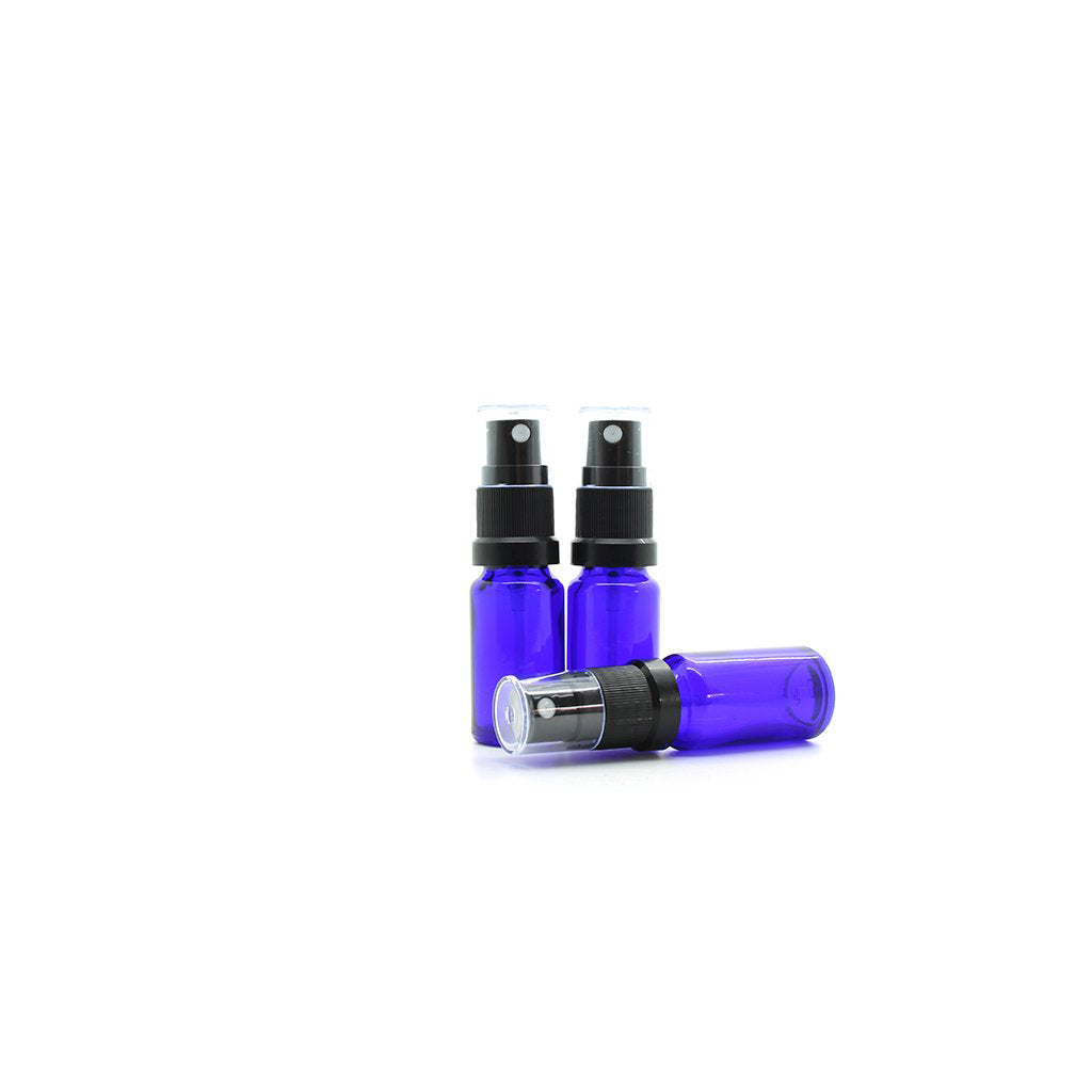 10ml Blue Moulded Glass Mister Bottle