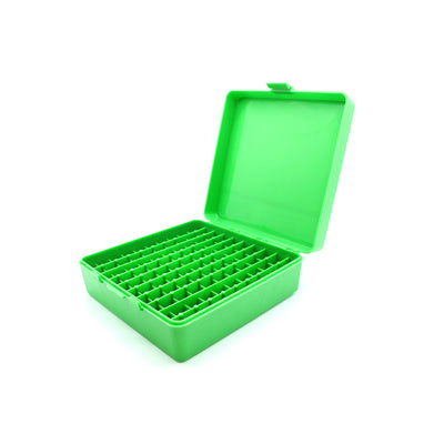Green Plastic Box to hold 100 x 2g/1.75ml Vials