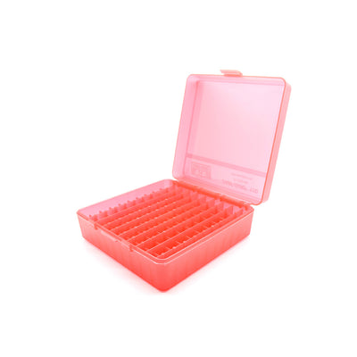 Red Plastic Box to hold 100 x 2g/1.75ml Vials