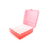 Red Plastic Box with 100 x 2g/1.75ml Push-in Plug Vials