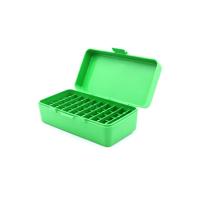 Green Plastic Box to hold 50 x 2g/1.5ml Vials