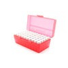 Red Plastic Box with 50 x 2g/1.75ml Screw Cap Vials