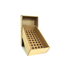 Posting Box with 18mm holed cardboard platform to hold 50 bottles