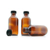 100ml Amber Moulded Glass Screw Cap Bottle