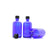 100ml Blue Moulded Glass Screw Cap Bottle