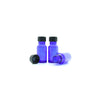 10ml Blue Moulded Glass Screw Cap Bottle