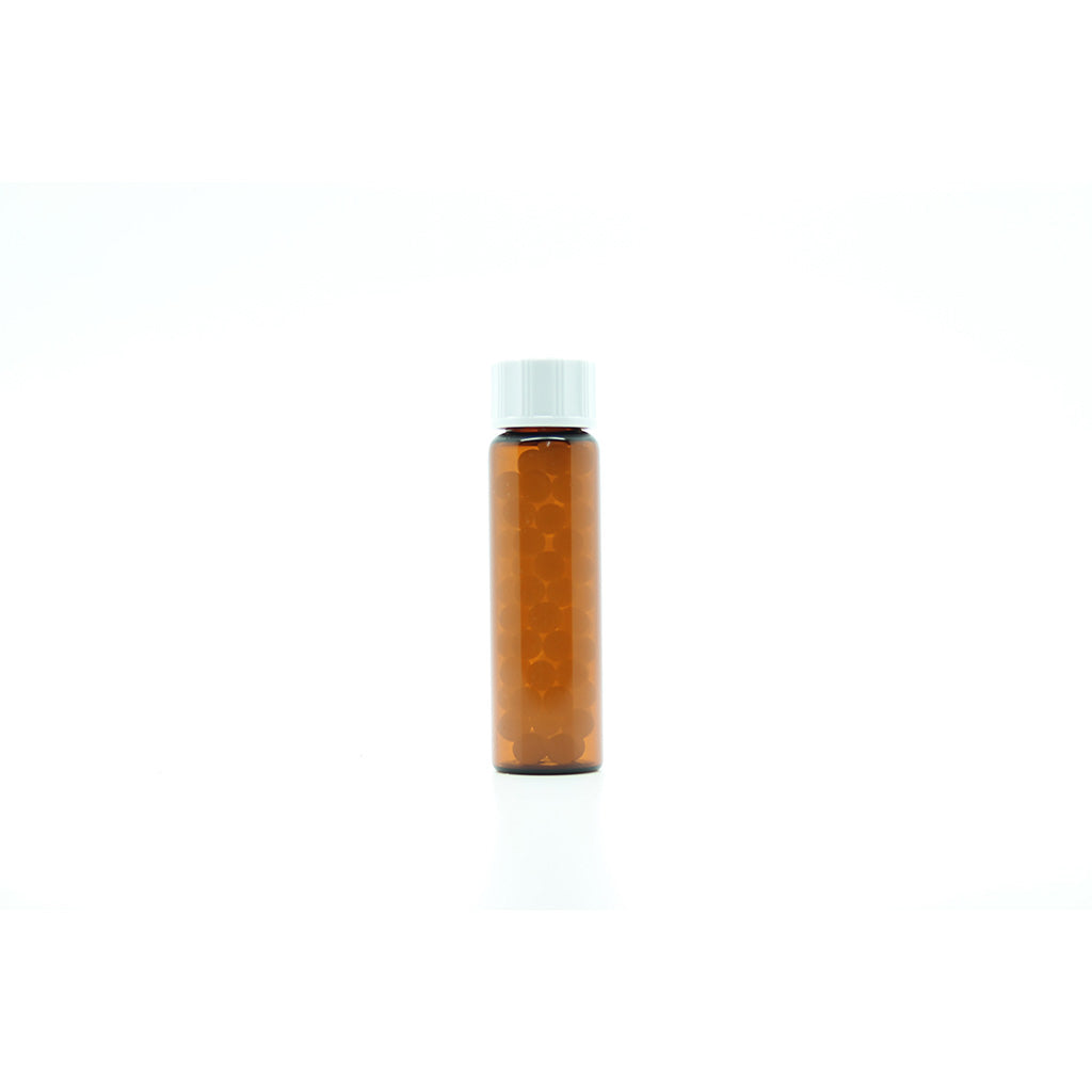 8g/10ml Tubular Glass Bottles filled with 5mm Sucrose Pillules x 50
