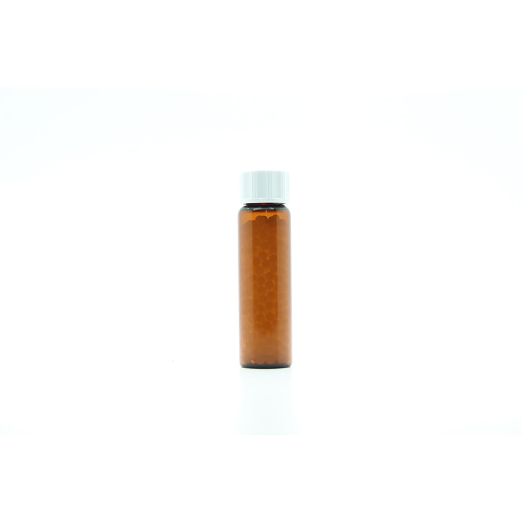 8g/10ml Tubular Glass Bottle filled with 2.5mm Sucrose Pillules x 50