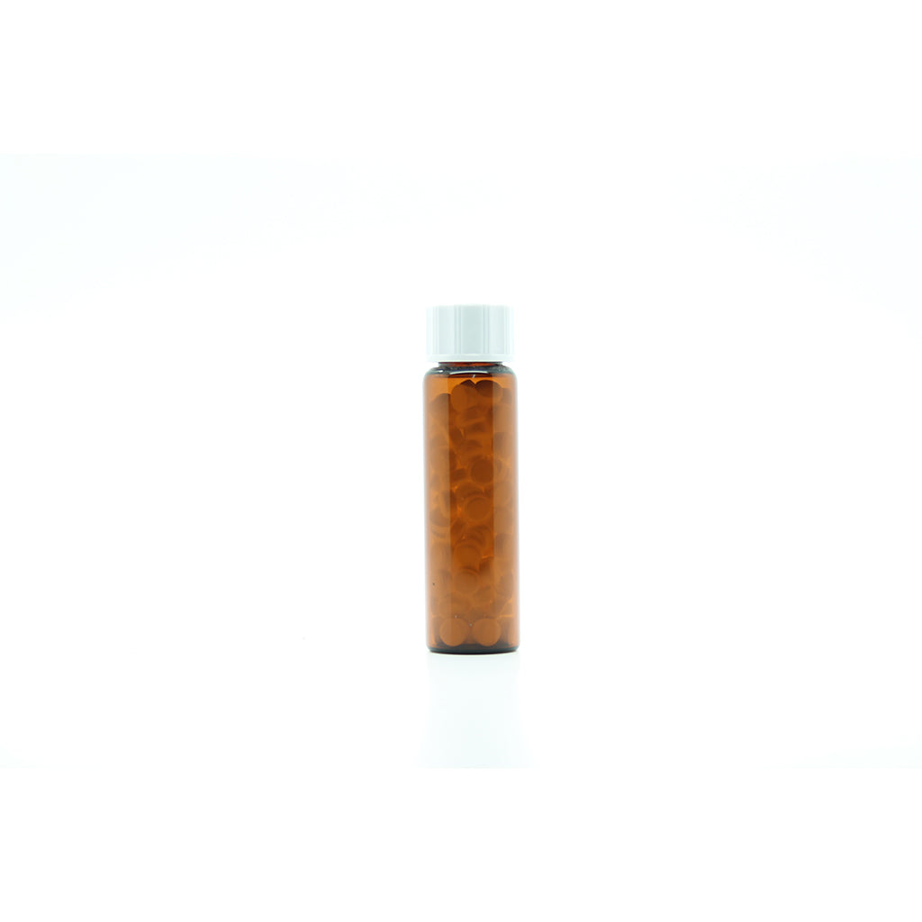 8g/10ml Tubular Glass Bottles filled with 5mm Soft Lactose Tablets x 50