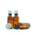 30ml Amber Moulded Glass screw cap bottle with Childproof Cap