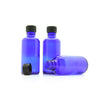 50ml Blue Moulded Glass Screw Cap Bottle