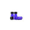 5ml Blue Moulded Glass Screw Cap Bottle
