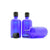100ml Blue Moulded Glass Screw Cap Bottle with Tamper Evident Cap