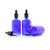 100ml Blue Moulded Glass Dropper Bottle with Tamper Evident Cap