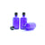 100ml Blue Moulded Glass Pourer Restrictor Bottle with Tamper Evident Cap