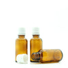 50ml Amber Moulded Glass Screw Cap Bottle with Tamper Evident Cap