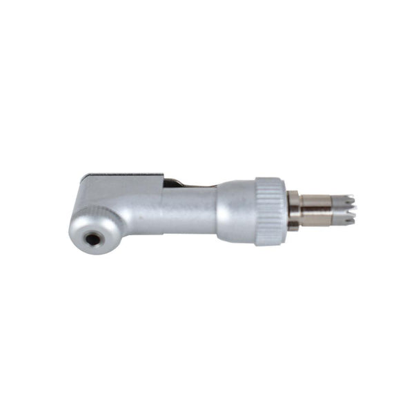 Veterinary dental Serona Animal Health E-Type Contra Angle Head, 30K RPM Latch Type (12 tooth), crafted from stainless steel.