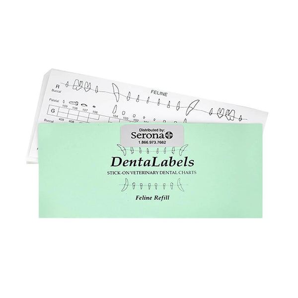 Veterinary Dental Serona Animal Health DentaLabel Feline Refill (50/pkg).