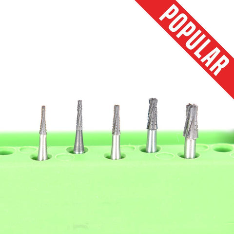 Shop online at Serona.ca for the veterinary dental Brasseler FG Flat-End Taper Cross-Cut Fissure Burs. Available in various head sizes with a shank of 19mm.